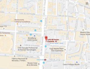 Mapa Oficina Aulainglés Doctor Esquerdo